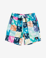 Quiksilver Dye Check Volley Kids Swimsuit